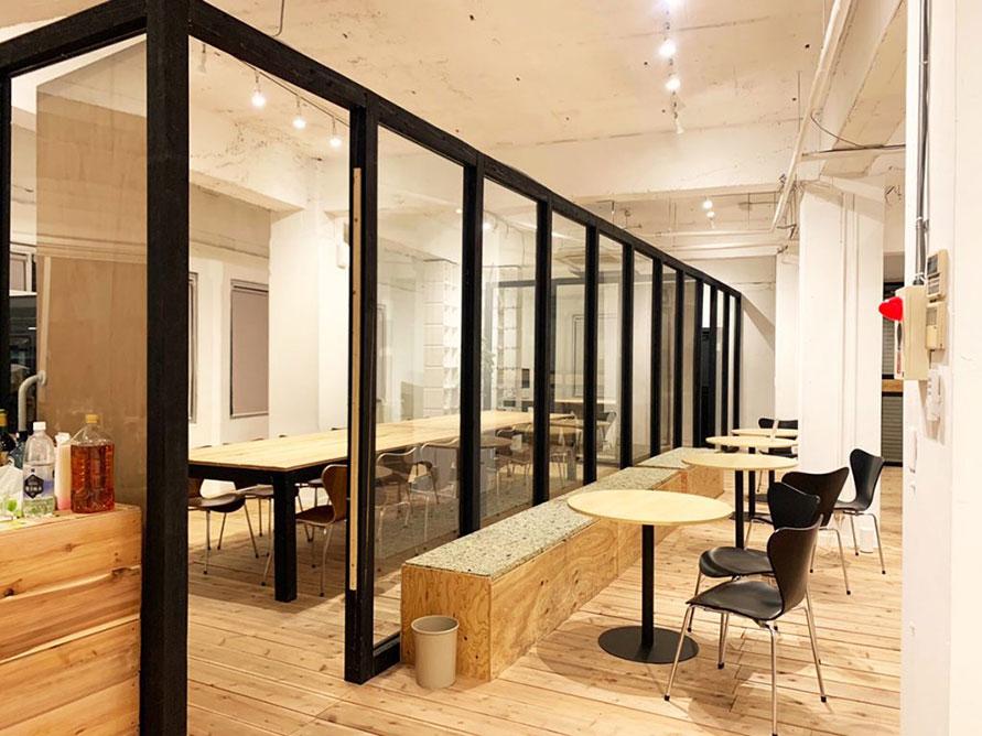 撮影に使えるカフェスペース